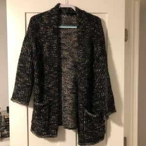 Express chunky knit sweater coat cardigan